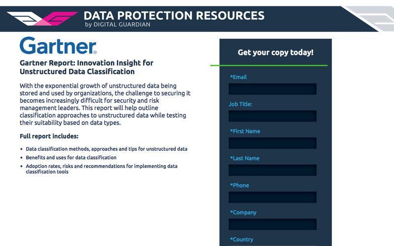 Gartner Report: Innovation Insight for Unstructured Data Classification