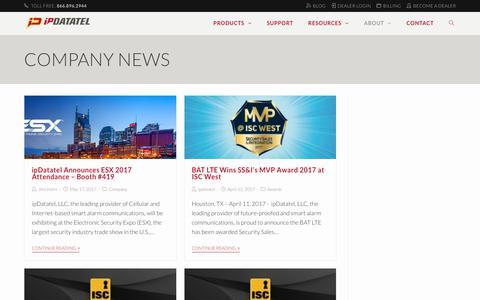 Screenshot of Blog ipdatatel.com - Company News - ipDatatel - captured July 15, 2017