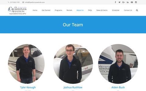 Screenshot of Team Page crosswindsaviation.com - Our Flight Instructors - captured Sept. 30, 2018
