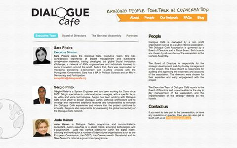 Screenshot of Team Page dialoguecafe.org - Dialogue Café | People - captured Sept. 30, 2014