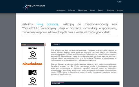 Screenshot of Home Page mslwarsaw.pl - MSL Warsaw - captured Sept. 30, 2014