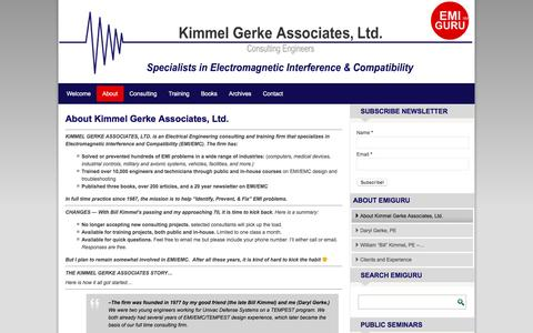 Screenshot of About Page emiguru.com - About Kimmel Gerke Associates, Ltd. – EMI GURU - captured Nov. 27, 2016