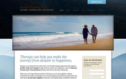 Screenshot of Home Page roberthammel.com - Robert Hammel M.A. - Calgary Counselling Psychology - captured Oct. 7, 2014