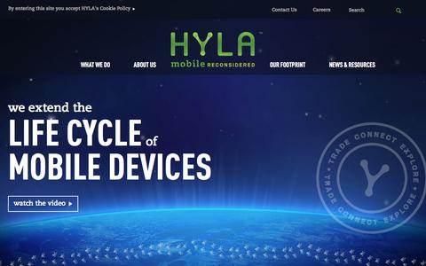 Screenshot of Home Page erecyclingcorps.com - HOME | HYLA Mobile - Mobile Reconsidered - captured Sept. 25, 2014