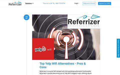 Screenshot of Blog referrizer.com - Blog – Referrizer - captured Oct. 16, 2019