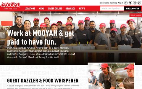 Screenshot of Jobs Page mooyah.com - jobs near me - MOOYAH Burgers, Fries and Shakes - captured Sept. 23, 2018