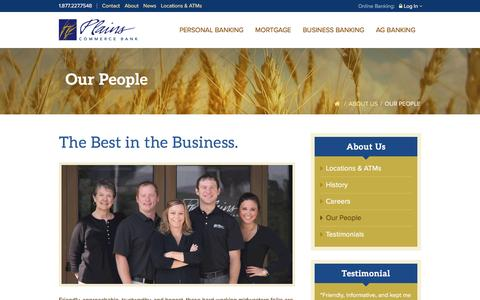 Screenshot of Team Page plainscommerce.com - Our People | Plains Commerce Bank - captured Nov. 7, 2016