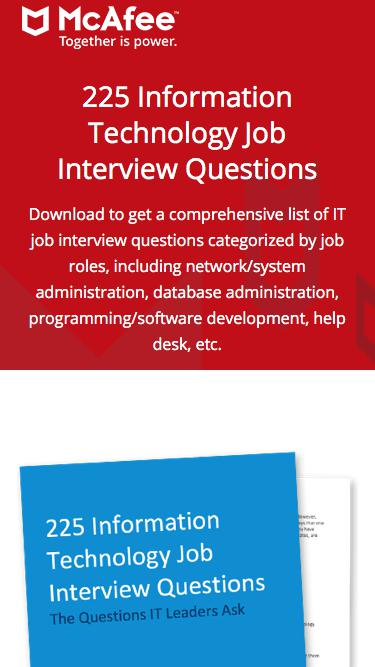 225 Information Technology Job Interview Questions