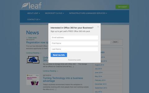 Screenshot of Press Page leafconsultancy.com - News Archives - Leaf ConsultancyLeaf Consultancy - captured Nov. 1, 2014