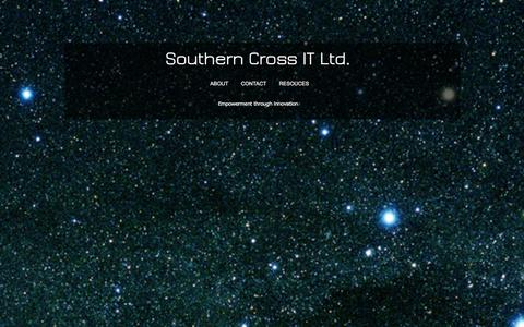 Screenshot of Home Page southerncrossit.com - southerncrossit - captured Oct. 6, 2014