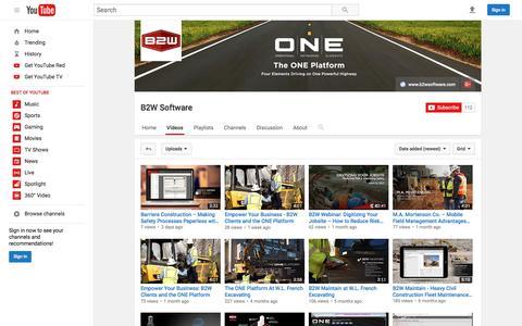 B2W Software  - YouTube