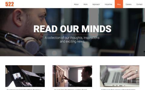Screenshot of Blog 522productions.com - Blog | 522 Productions - captured Jan. 10, 2016