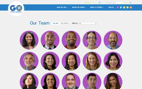 Screenshot of Team Page gopublicschools.org - Our Team | GO Public Schools - captured Nov. 14, 2016