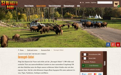 Screenshot of Home Page serengeti-park.de - Serengeti-Safari - Serengeti-Park - captured Jan. 15, 2016