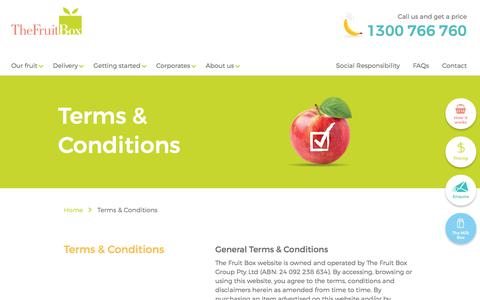 Screenshot of Terms Page thefruitbox.com.au - Terms & Conditions | The Fruit Box - captured June 2, 2017