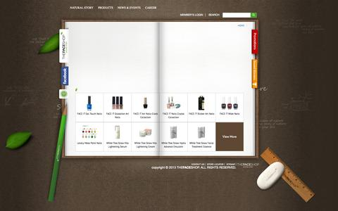 Screenshot of Products Page thefaceshop.com.sg - Welcome to The FACESHOP - captured Oct. 7, 2014