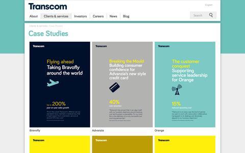 Screenshot of Case Studies Page transcom.com - Case Studies - Transcom - captured Sept. 23, 2014