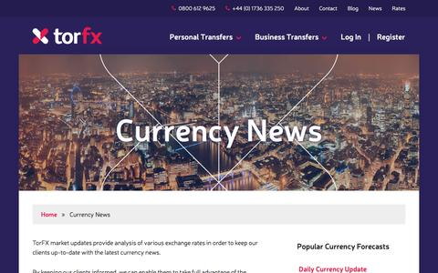Screenshot of Press Page torfx.com - Foreign Exchange Rate Forecasts and News | TorFX - captured Feb. 18, 2016