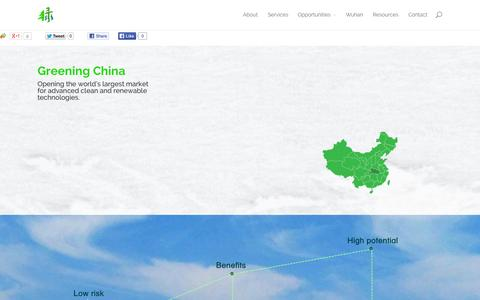 Screenshot of Home Page 3greenconsulting.com - China Cleantech Business Development | 3Green Consulting - captured Oct. 9, 2014