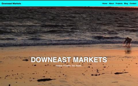 Screenshot of Home Page downeastmarkets.com - Home - captured Nov. 24, 2016