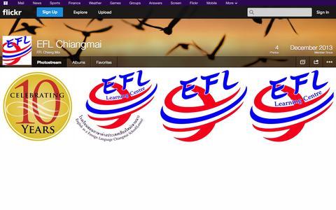 Screenshot of Flickr Page flickr.com - Flickr: EFL Chiang Mai's Photostream - captured Oct. 22, 2014