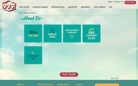 Screenshot of About Page 777.com - ABOUT 777 Online Casino - captured Sept. 23, 2018