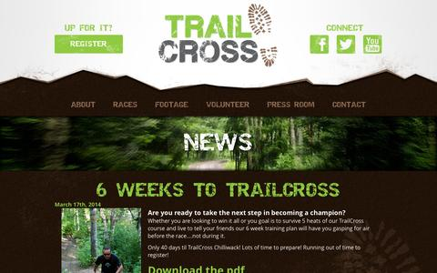 Screenshot of Press Page trailcross.ca - News   TrailCross - captured Sept. 26, 2014