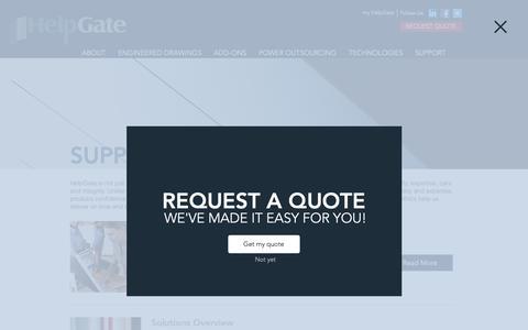 Screenshot of Support Page helpgate-inc.com - HelpGate-Inc   SUPPORT - captured Nov. 4, 2018