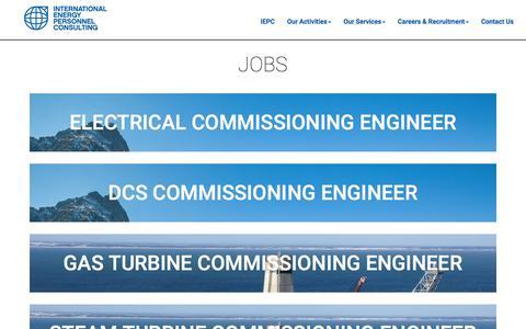 Screenshot of Jobs Page iepc.ch - Jobs - captured Sept. 20, 2017