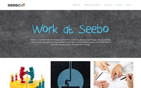 Screenshot of Jobs Page seebo.com - Careers at Seebo - Seebo - captured Nov. 4, 2014