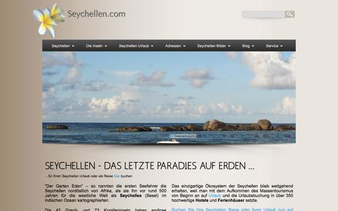 Screenshot of Home Page seychellen.com - Seychellen - Das letzte Paradies auf Erden - captured June 30, 2018