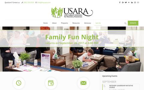 Screenshot of Signup Page myusara.com - Join Us - USARA - captured Sept. 30, 2017