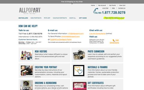 Screenshot of Privacy Page FAQ Page allpopart.com - Frequently Asked Questions | AllPopArt - captured Sept. 19, 2014