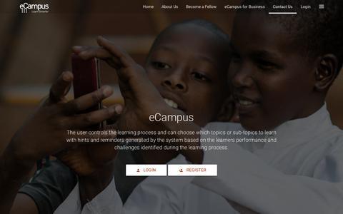 Screenshot of Contact Page ecampus.camp - Contact Us - eCampus - captured Nov. 1, 2017