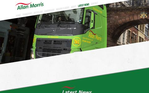 Screenshot of Press Page allanmorris.co.uk - Bulk Haulage Walking Floor Transport Warehousing Paper Recycling - Allan Morris - captured Feb. 4, 2016