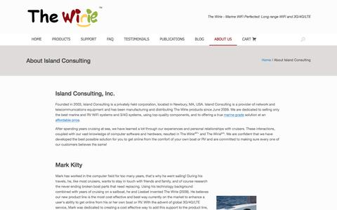 Screenshot of About Page thewirie.com - About Island Consulting – The Wirie - captured Aug. 16, 2016