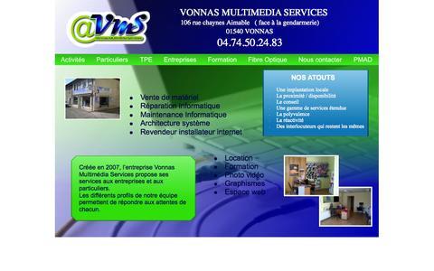 Screenshot of Home Page vmsvonnas.fr - accueil - captured Oct. 8, 2014