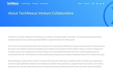 Screenshot of About Page technexus.com - TechNexus    About - captured June 12, 2017