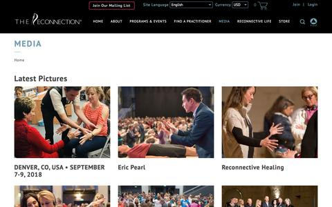 Screenshot of Press Page thereconnection.com - Media | The Reconnection - captured Sept. 24, 2018