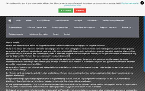 Screenshot of Privacy Page polyglaskunststoffen.nl - Privacy   Polyglas Kunststoffen - captured Sept. 28, 2018