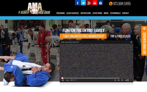 Screenshot of Home Page amafightclub.com - AMA FIGHT CLUB, Inc. | Fun for the entire family! 7 Day unlimited membership. Try a free class. - captured Feb. 6, 2016