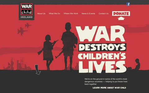 Screenshot of Home Page warchild.ie - Home | - captured Oct. 7, 2014