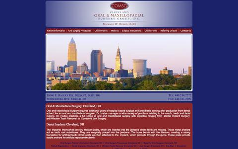 Screenshot of Home Page clevelandoms.com - Cleveland Oral & Maxillofacial Surgery Group, Inc., Cleveland, Ohio - captured Oct. 2, 2014