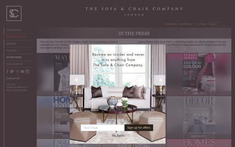 Screenshot of Press Page thesofaandchair.co.uk - Press - The Sofa & Chair Company - captured July 28, 2017
