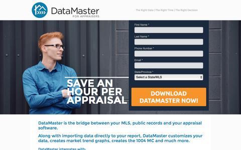 Screenshot of Trial Page datamasterusa.com captured Jan. 12, 2017