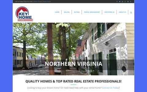 Screenshot of Home Page keyhm.com - Key Home Sales & Management - captured Nov. 27, 2016