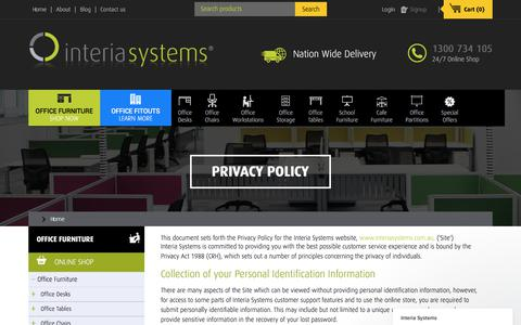Screenshot of Privacy Page interiasystems.com.au - Privacy Policy | Page - captured June 8, 2017