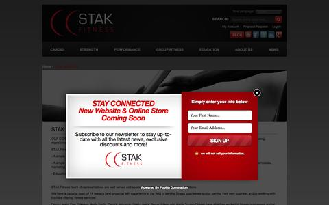 Screenshot of Services Page stakfitness.com - STAK Services  - STAK FITNESS - captured Sept. 30, 2014