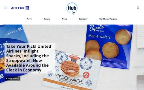 Screenshot of Press Page united.com - United Hub - Newsroom - captured July 11, 2019