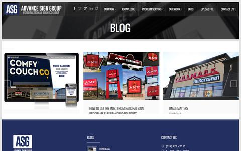 Screenshot of Blog advancesigngroup.com - Blog | Advance Sign Group - captured July 24, 2016